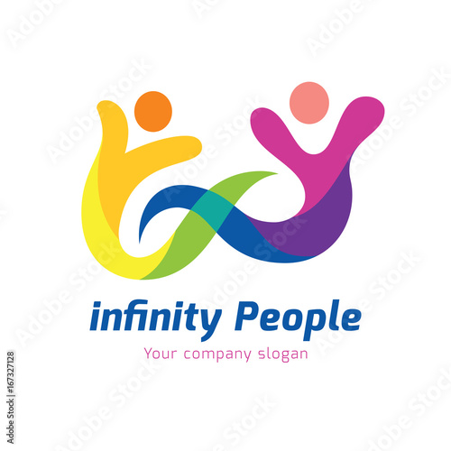 Infinity People Logo Template Creative Education And People Brand