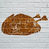 Art urbain, poulet rôti - 167328194