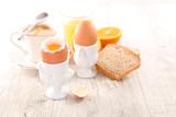 breakfast with egg and orange juice