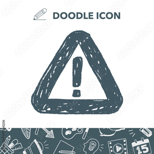 warning doodle