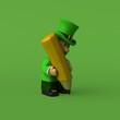 Leprechaun - 3D Illustration - 167343915