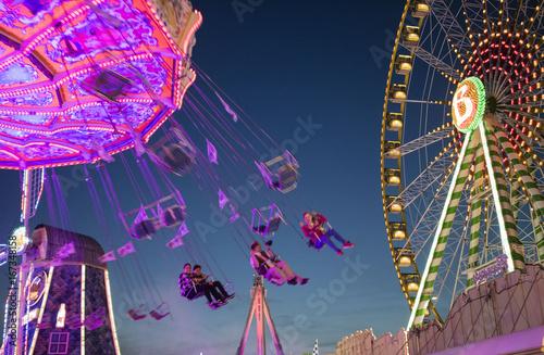 Tuinposter Amusementspark Cranger Kirmes