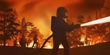 pompiers - incendie - feu de forêt - catastrophe