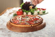 Mixed italian pizza presentation - 167358107