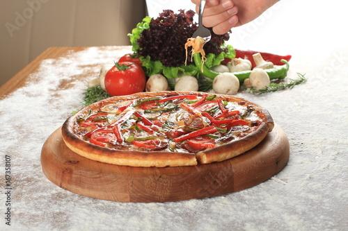 Mixed italian pizza presentation - 167358107