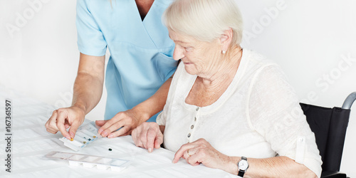Carer and elderly person
