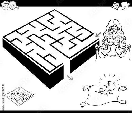 maze activity game with cinderella