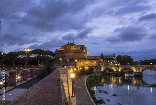 Rome - Castel Sant Angelo at night