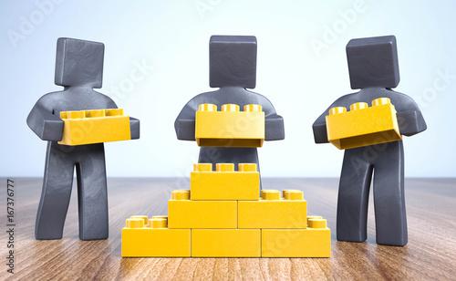 Knetfiguren Bauen und Aufbauen