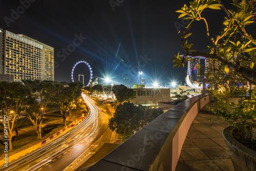Foto op Aluminium Nacht snelweg Singapore