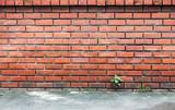 old red grunge brickwork background