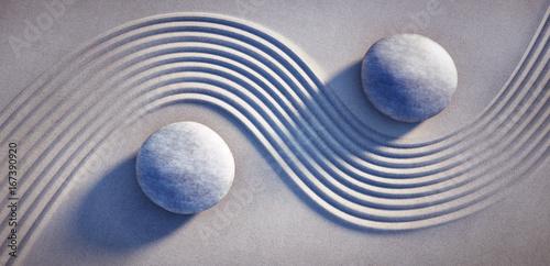 Canvas Zen Stenen 2 Steine im Zen-Garten