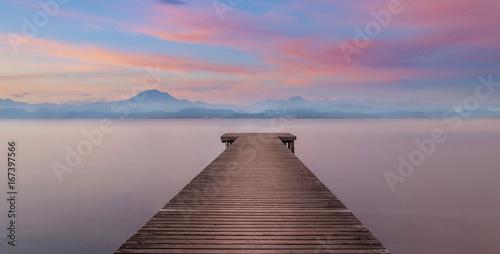 Obraz na Plexi Bootssteeg am See