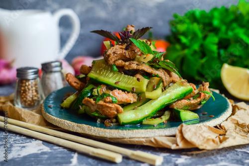 Pickled vegetables. Vegetable Salad - 167400701