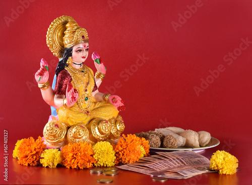 Plakát Lakshmi - Hindu goddess ,Goddess Lakshmi