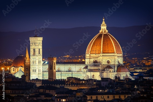 Poster Toscane Florence Night Cityscape