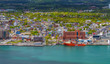 Aerial view of colorful houses and buildings in St. John's, Newfoundland, Canada