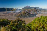 Beautiful landscape of Bromo volcano mountain in East Java, Indonesia