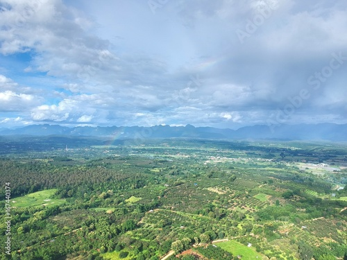 The bird eye view of chiang dao city , chiangmai Thailand