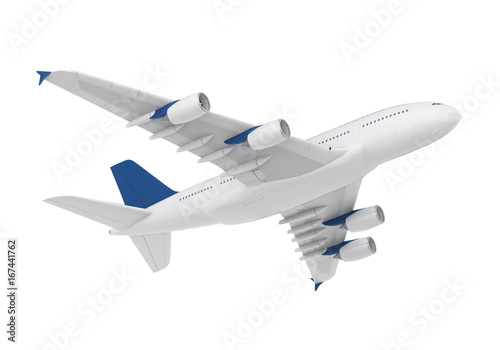 Fototapeta Commercial Aircraft Isolated