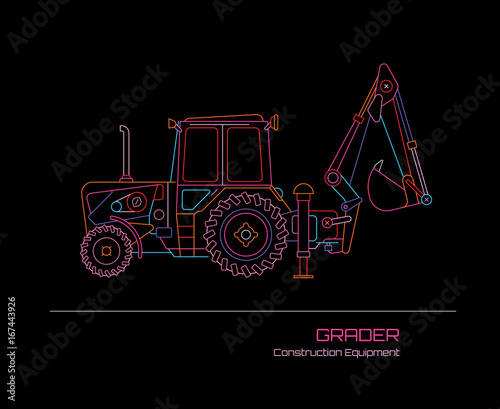 Grader Tractor Neon Sign
