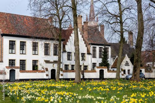 Spoed canvasdoek 2cm dik Brugge Bruges beguinage