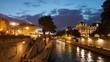 The Seine, Paris at night around Notre Dame