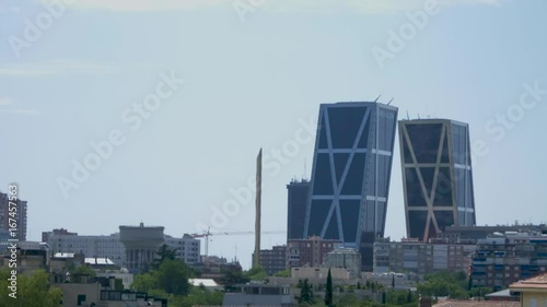 Perspective of the madrid skyline