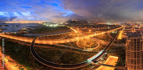 Foto op Plexiglas Kiev Huli Industrial Park,Xiamen Binhai New Town Xike Junction Hub