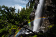 waterfall with rainbow - 167463397