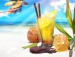 Quadro Ipanema Cocktail am Strand