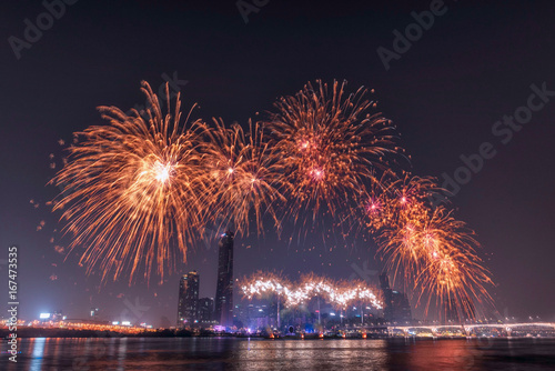 International Fireworks Festival in Seoul, Korea