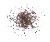 chia seeds on white background - 167476177