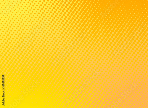 retro comic yellow background raster gradient halftone, stock vector illustration eps 10