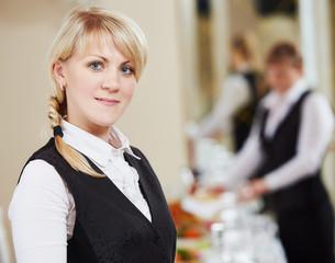 Waitress woman portrait in restaurant