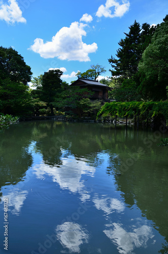 Kyoto Imperial Palace under summer sky 京都御所 夏