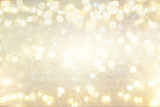 Fototapety glitter vintage lights background. silver and light gold. de-focused