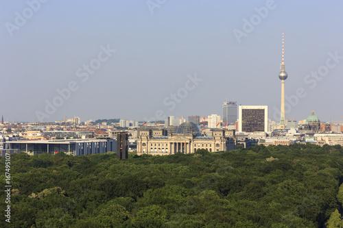Deurstickers Berlijn Panorama Berlin