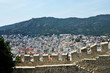 Kavala, city in the northern Greece, in the Macedonia-Thrace region, located on the Aegean Sea. Walls of Byzantine citadel. - 167500584