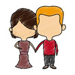 bride and groom romantic date and love concept vector illustration - 167546186