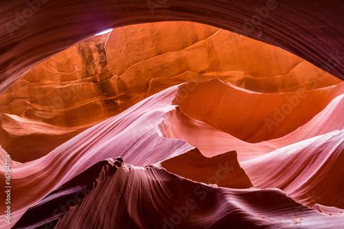 Fotobehang Rood traf. Antelope Canyon Arizona Red Rock Navajo Slot Canyon