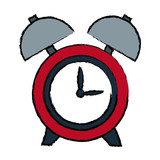 clock alarm hour round bell time vector illustration