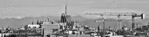 Milano, duomo in bianco e nero