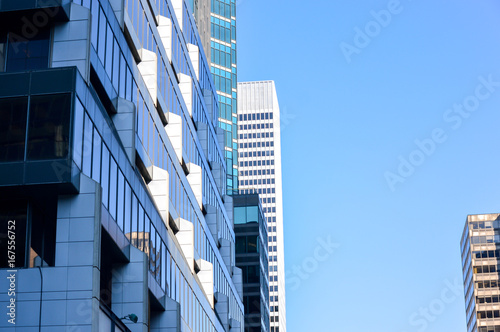 Stampa su Tela The tall business skyscrapers in the heart of Montreal downtown.
