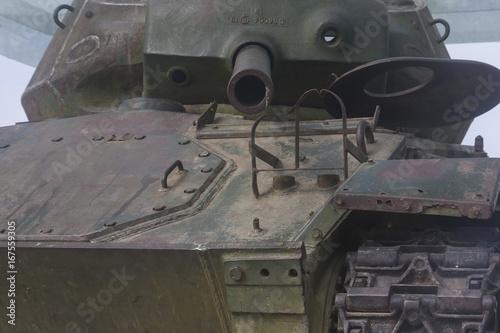 Abandoned battle tank Poster