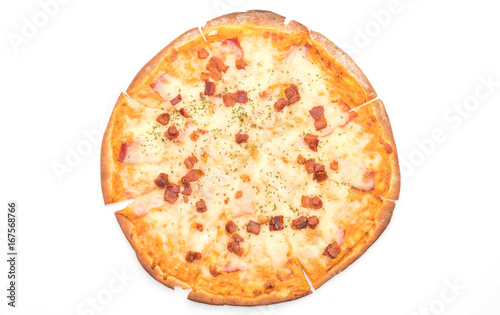 bacon and cheese pizza