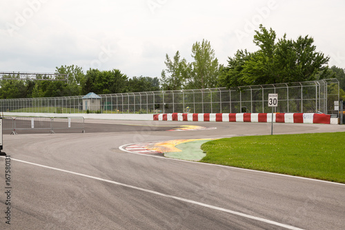 Fotobehang Formule 1 The chicane approaching wall of champions on Circuit Gilles Villeneuve
