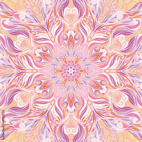 Floral mandala square pattern - 167580738