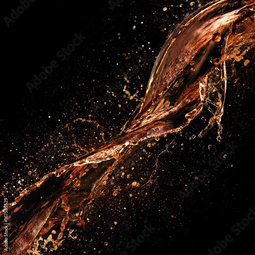 Soda Liquid on Dark Background Poster