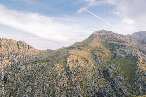 Foto op Canvas Wit mediterranean mountains against blue sky